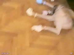 Rizos de oro folla con perro
